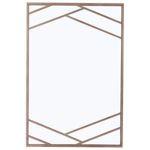 Bruant Metal Mirror in Rose Gold Finish