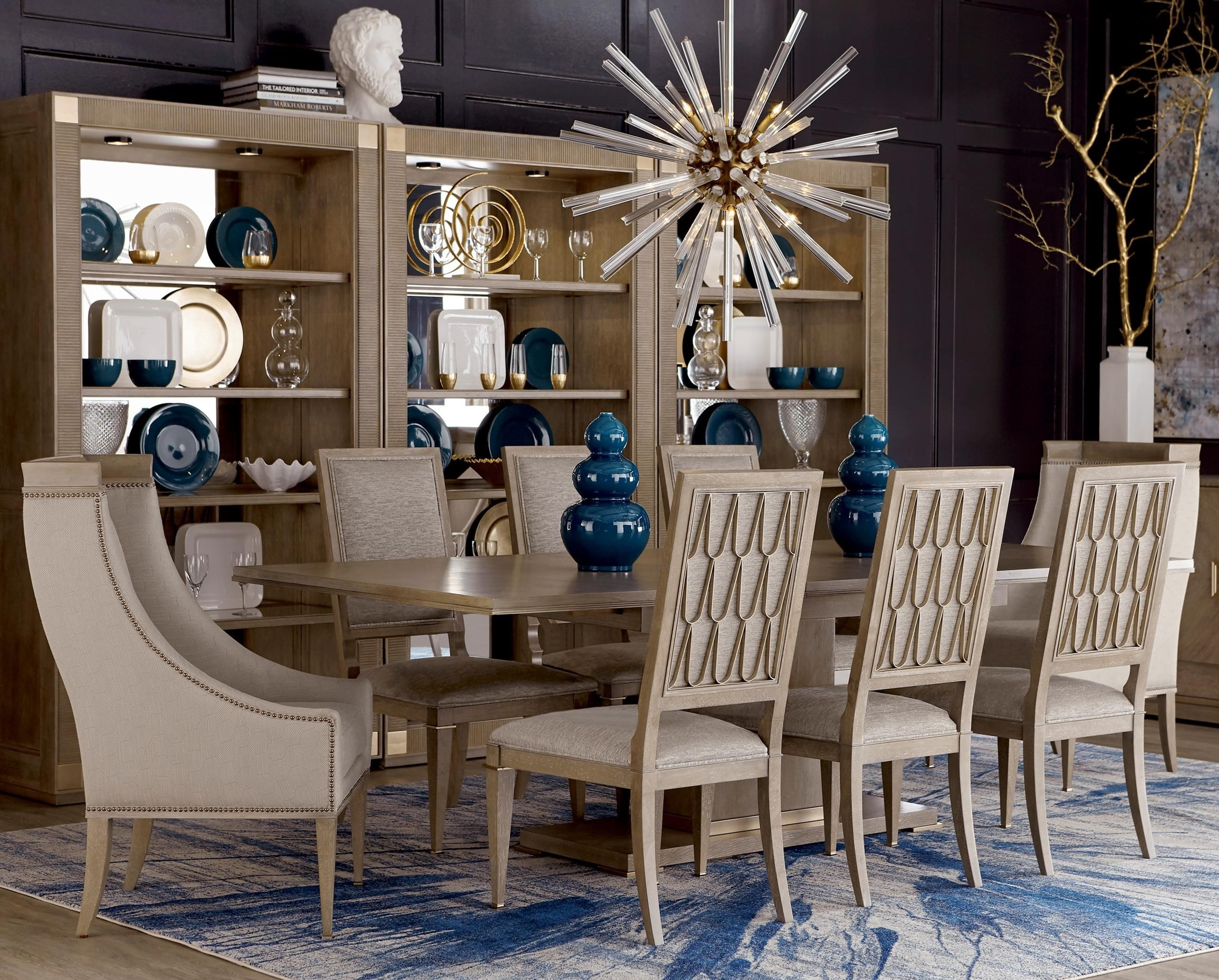 Cityscapes 9-Piece Bedford Rectangular Dining Table Set by A.R.T. Furniture Inc at Baer's Furniture