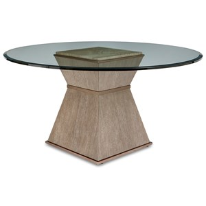 "Hancock Dining Table w/ 60"" Round Glass Top"