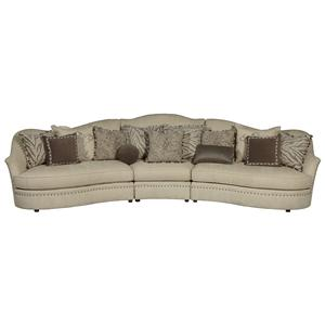 A.R.T. Furniture Inc Cotswold Amanda - Ivory 3-Piece Sectional