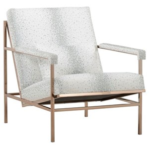 Finn Metal Frame Accent Chair in Soft Gold Finish