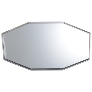 Octagonal Hallie Mirror with Stainless Steel Frame in Bright Polished Nickel Finish