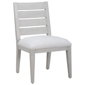 Luke Slat Back Side Chair with Performance Fabric