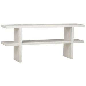 Minimalist Futura Console Table in Gray Wash Finish
