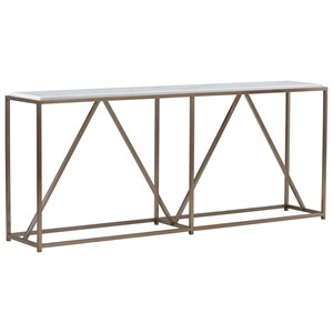Goldman Console Table with Gold Finish Metal Base