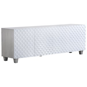 Seaton Entertainment Console with Gloss White Doors