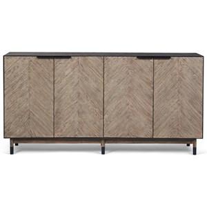 Cedar Park Sideboard with Herringbone Matched Elm Veneer
