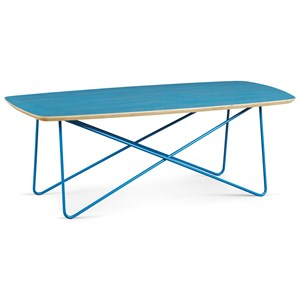 Blue Finish Wood/Metal 6th Street Cocktail Table