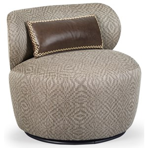 Margot Swivel Chair with Low Back