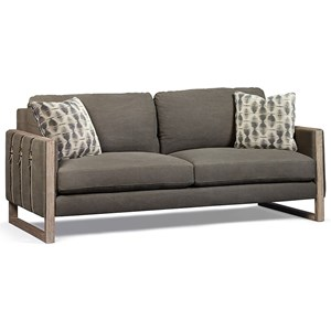Townes Sofa with Down Blend Cushions & Buckle Strap Accents