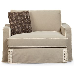 Nelson Chair and a Half with Slipcover and Down Blend Cushion