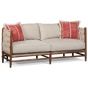 Abbott Sofa w/ Wood Frame, Woven Back, & Down Blend Cushions