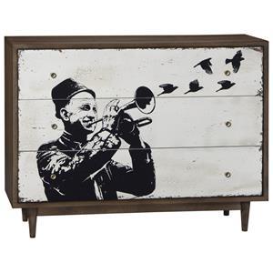 Williamsburg Single Dresser with Street Art Style Screenprint