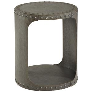 Industrial Style Williamsburg Metal End Table