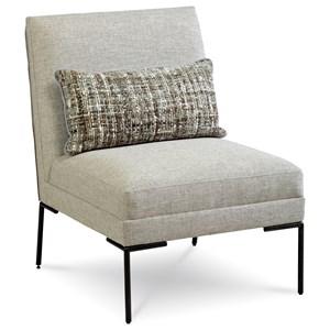 Altair Slipper Chair with Down Blend Cushion & Metal Frame