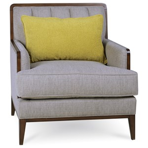 Transitional Wilsey Chair with Down Blend Seat Cushion