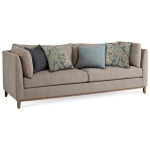 Contemporary Chaplin Sofa with Tuxedo Arms & Down Blend Seat Cushions