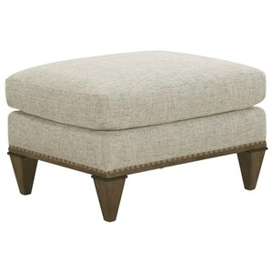 Chase Ottoman with Contrast Trim and Nailheads
