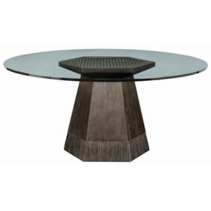 "Bluff Dining Table w/ 60"" Glass Top"
