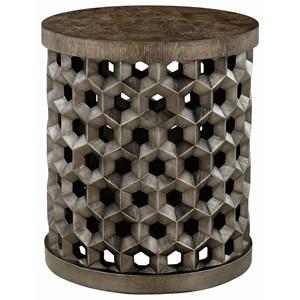 Tanzanite Drum Table
