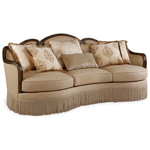 Traditional Sofa with Down-Blend Seat Cushions
