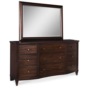 A.R.T. Furniture Inc Intrigue Drawer Dresser & Landscape Mirror