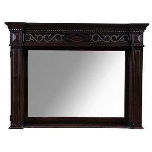 A.R.T. Furniture Inc Marbella Noir Landscape Mirror - Crowned Mirror