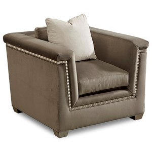Mani Chair with Silver-Painted Trim