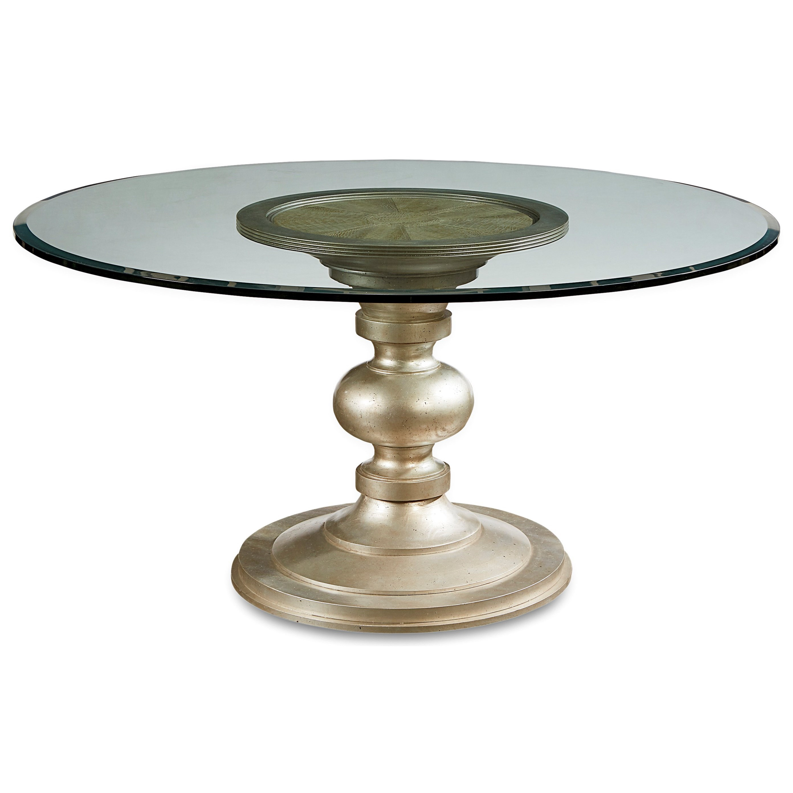 """Morrissey Wallen Round Dining Table w/ 60"""" Glass Top by A.R.T. Furniture Inc at Home Collections Furniture"""