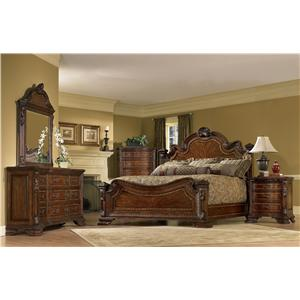 A.R.T. Furniture Inc Old World King Bedroom Group