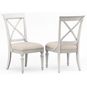 Side Chair with X Back