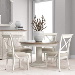 5-Piece Round Dining Table Set