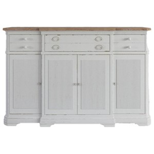 Two-Tone Breakfront Credenza