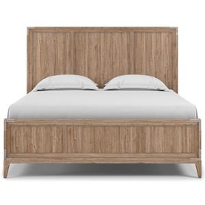 Queen Bed in Light Oak Finish
