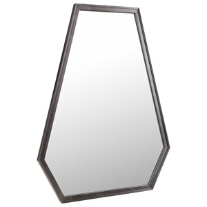 Contemporary Hexagon Mirror with Silver Leaf Finish