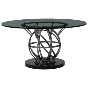 Contemporary 60 Inch Round Dining Table