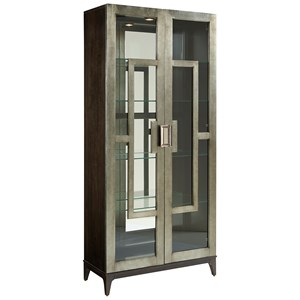 Contemporary Art Deco Curio Cabinet with Touch Lighting