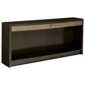 Contemporary Console Table with Open Storage Compartment