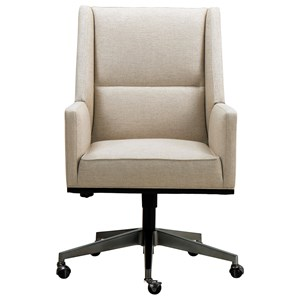 Contemporary Upholstered Desk Chair with Casters