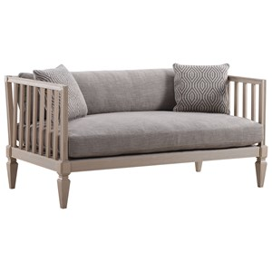 Ana Settee with Slatted Frame