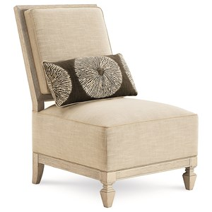 Millie Upholstered Exposed Wood Side Chair