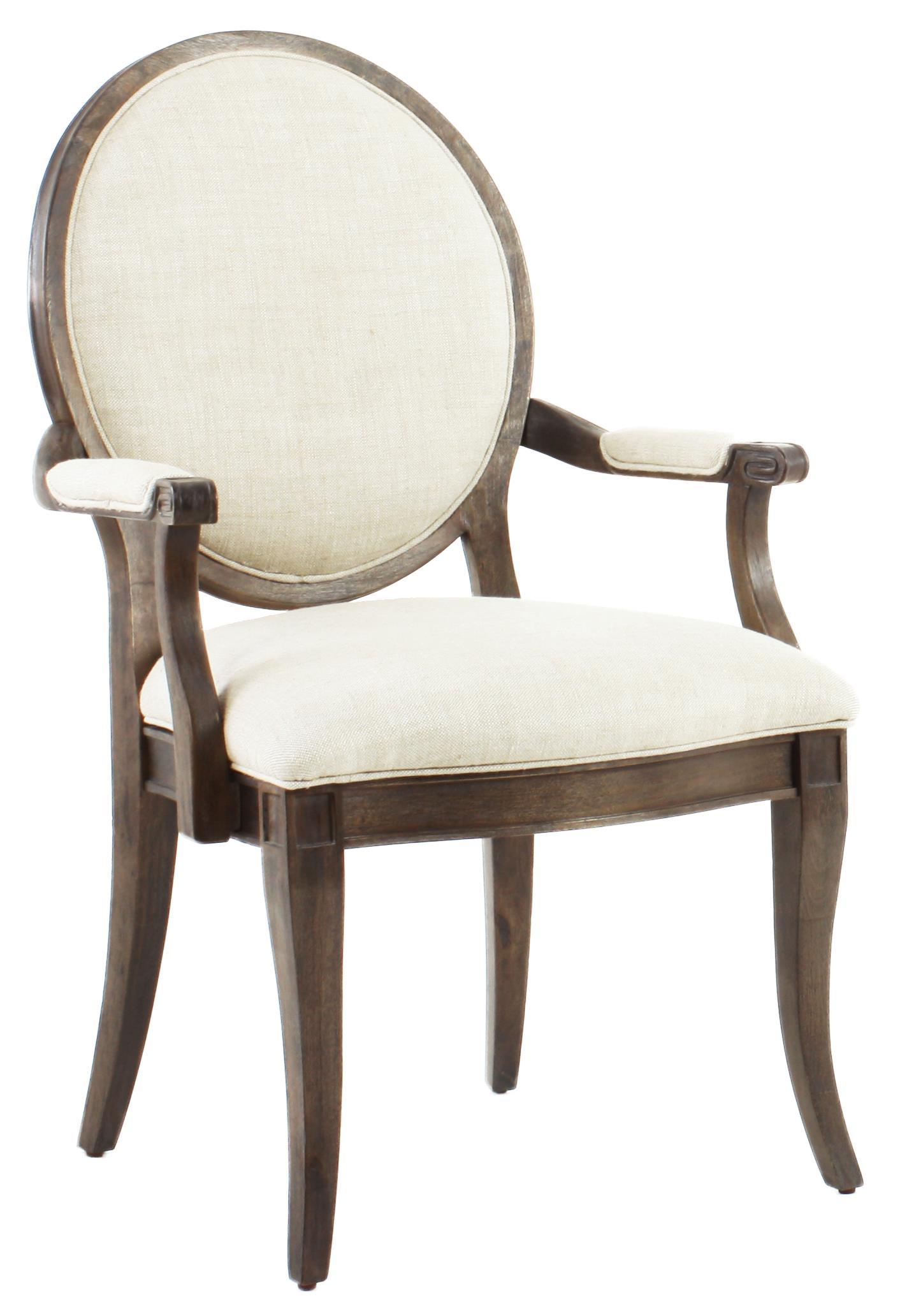 Saint Germain Oval Back Arm Chair by Klien Furniture at Sprintz Furniture