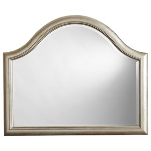 Glam Arched Mirror in Metallic Paint Finish