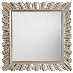 Glam Accent Mirror in Metallic Paint Finish
