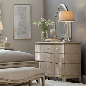 Glam Serpentine Front Dresser & Arched Mirror