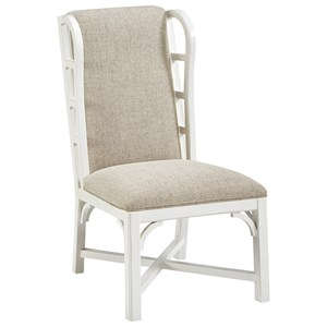 Relaxed Vintage Side Chair with Stain-Protected Fabric