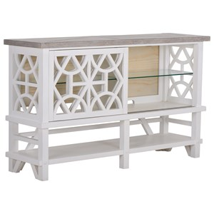 Relaxed Vintage Sideboard with Touch Lighting