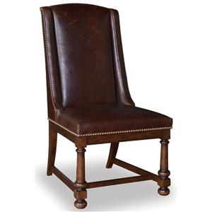 A.R.T. Furniture Inc Whiskey Oak Leather Side Chair