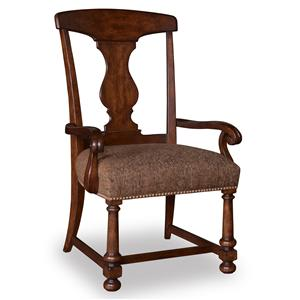 A.R.T. Furniture Inc Whiskey Oak Splat-Back Arm Chair