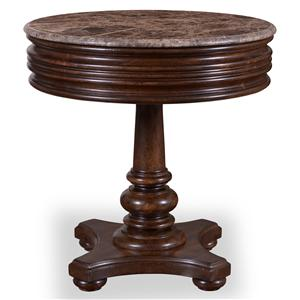 A.R.T. Furniture Inc Whiskey Oak Round Side Table